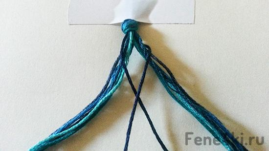Урок фенечки-косички рыбий хвост. Фенечки из мулине. Схемы фенечек. Как плести фенечки