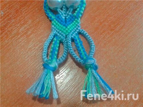 Схема плетения макраме брелка Сова. Фенечки из мулине. Схемы фенечек. Как плести фенечки