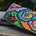 Прямое плетение фенечек