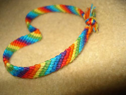 Candy Stripe Bracelet. Friendship Bracelets. Bracelet Patterns. How to make bracelets