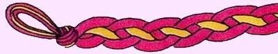 Схема фенечки Цепочка