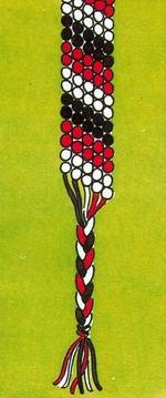 Схема фенечки Вечная классика. Фенечки из мулине. Схемы фенечек. Как плести фенечки