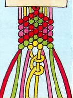Схема фенечки Ромбы
