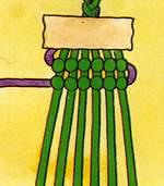 Схема фенечки Червячок. Фенечки из мулине. Схемы фенечек. Как плести фенечки