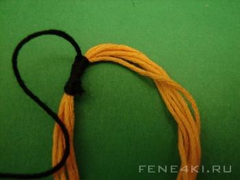 Начало плетения фенечки. Фенечки из мулине. Схемы фенечек. Как плести фенечки