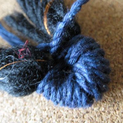Плетение нитки мулине схема