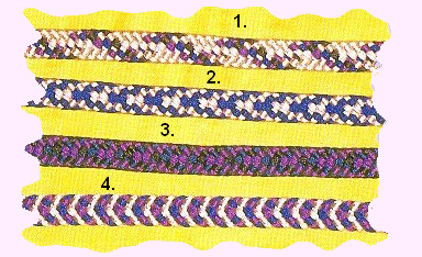 Meval Arts & Crafts: Kumihimo: eight bobbin flat cord