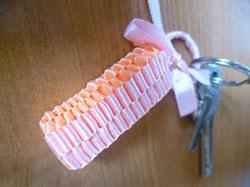 Ribbon Key Chain. Friendship Bracelets. Bracelet Patterns. How to make bracelets