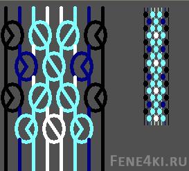 Схема фенечки Ромбики. Фенечки из мулине. Схемы фенечек. Как плести фенечки