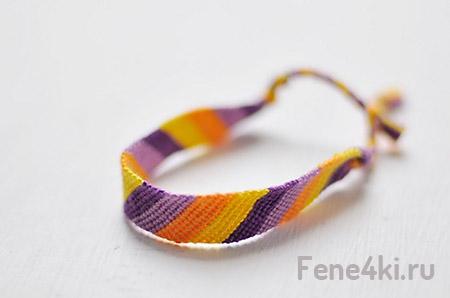 плетение фенечки из 6 нитей схемы