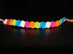 Zigzag Friendship Bracelet. Friendship Bracelets. Bracelet Patterns. How to make bracelets